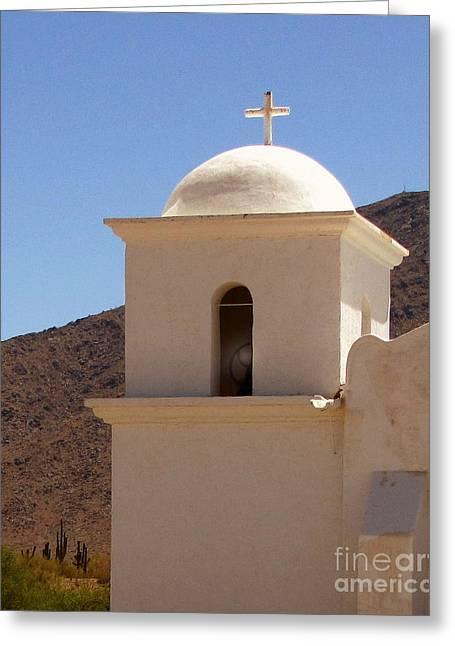 Santa Cruz Art Greeting Cards - Desert Chapel Greeting Card by Marilyn Smith
