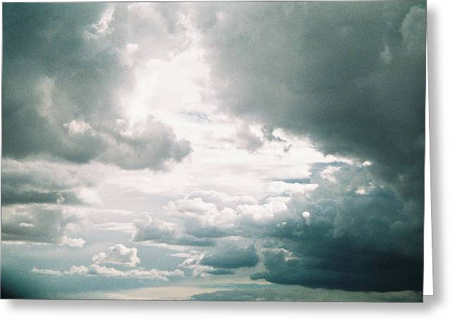 Desert Storm Clouds Greeting Card by Belinda Lee