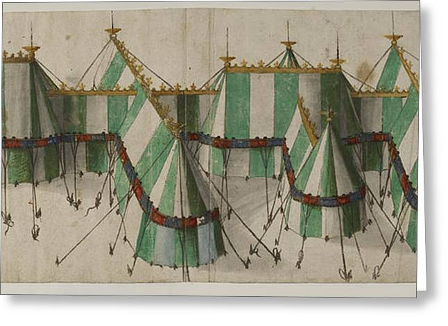 White Cloth Greeting Cards - Design For A Royal Pavilion Greeting Card by British Library