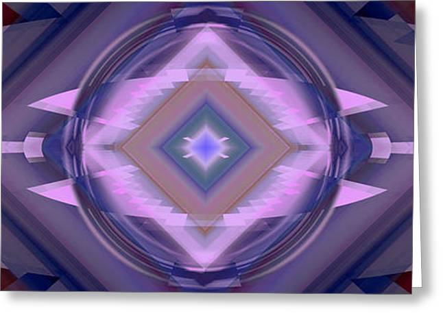 Geometric Effect Greeting Cards - Design Spin 67 Greeting Card by Joe  Connors