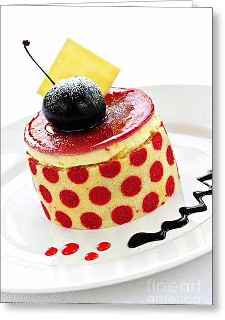 Sauce Greeting Cards - Dessert Greeting Card by Elena Elisseeva