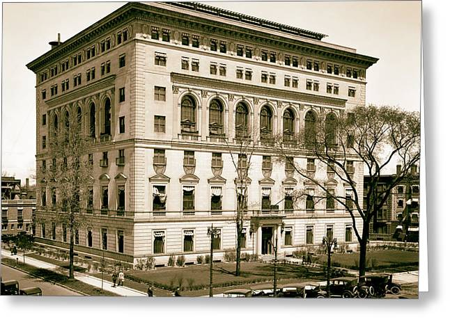 Athletic Photo Greeting Cards - Detroit Athletic Club 1910s Greeting Card by Mountain Dreams