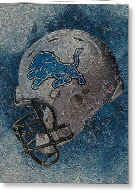 Division Greeting Cards - Detroit Lions Greeting Card by Jack Zulli