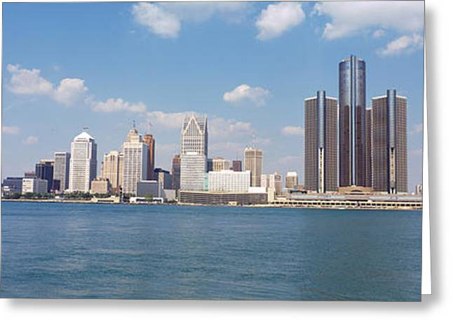 Detroit Photography Greeting Cards - Detroit Mi Usa Greeting Card by Panoramic Images