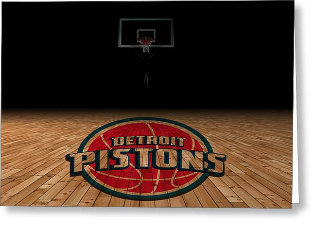 Detroit Pistons Greeting Card by Joe Hamilton