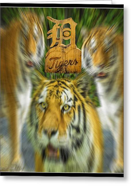 Best Sellers -  - Wooden Sculpture Greeting Cards - Detroit Tigers Baseball Greeting Card by LeeAnn McLaneGoetz McLaneGoetzStudioLLCcom