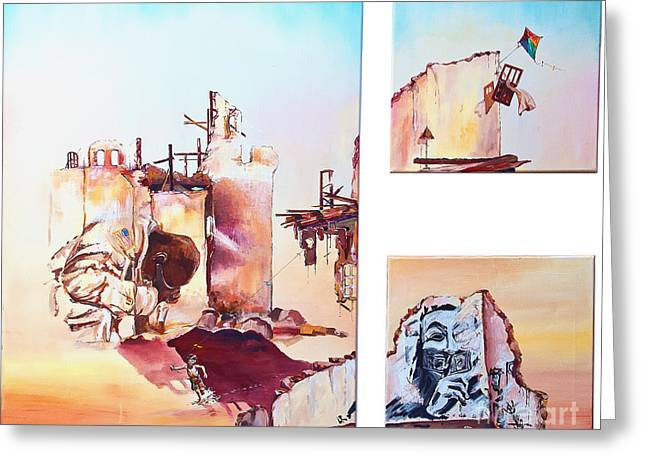 Alienate Greeting Cards - Devastation Greeting Card by Ute Bescht