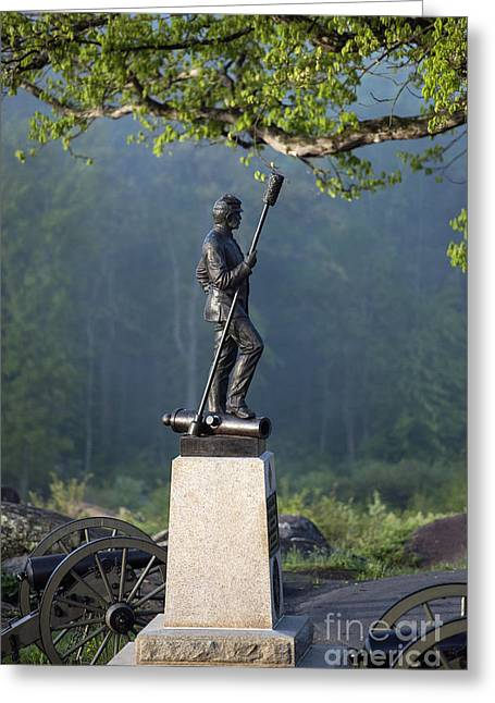 Recently Sold -  - Devils Den Greeting Cards - Devils Den Monument at Gettysburg Greeting Card by John Greim