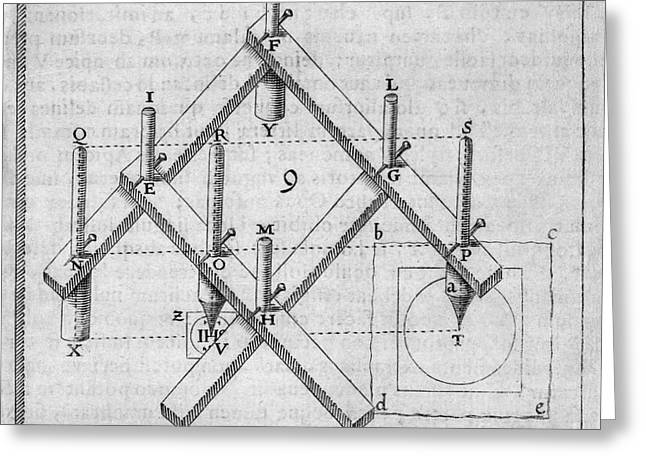 Copying Greeting Cards - Diagram Of A Pantograph Greeting Card by Middle Temple Library
