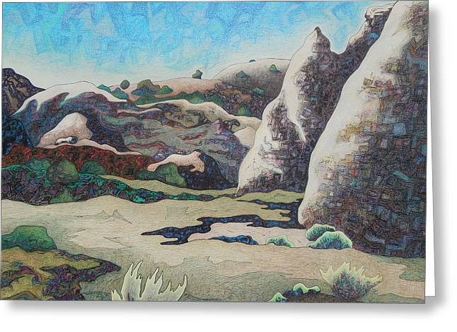Mystical Landscape Mixed Media Greeting Cards - Diamond day Greeting Card by Dale Beckman