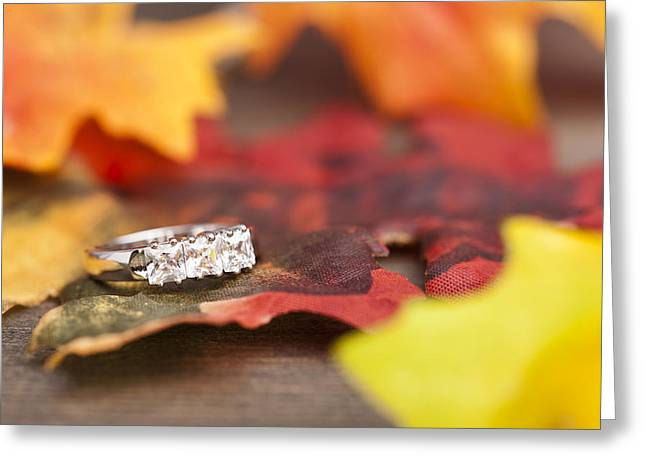 Engagement Ring Greeting Cards - Diamond Engagement ring Greeting Card by Ulrich Schade