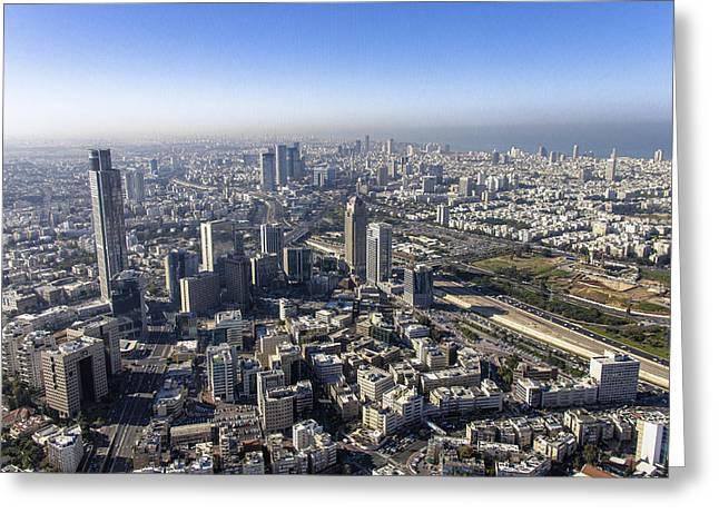 Ofir Ben Tov Greeting Cards - Diamond Exchange District, Tel Aviv Greeting Card by Ofir Ben Tov