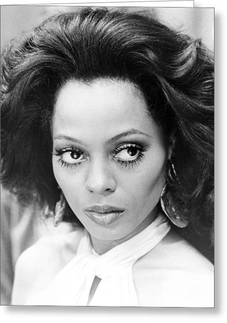 Diana Ross In Mahogany  Greeting Card by Silver Screen