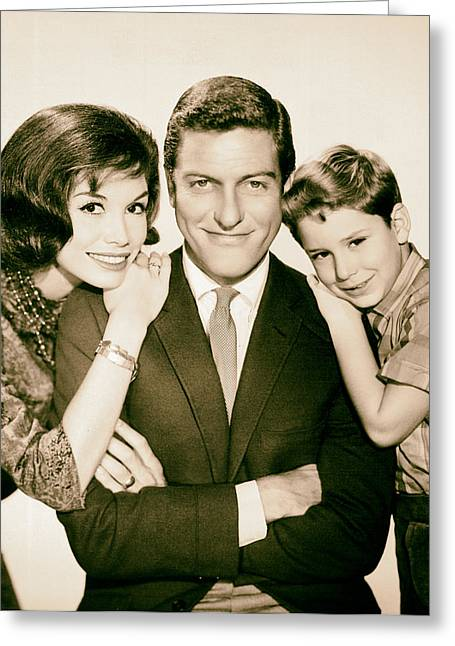 Publicity Shot Photographs Greeting Cards - Dick Van Dyke and Mary Tyler Moore 1963 Greeting Card by Mountain Dreams