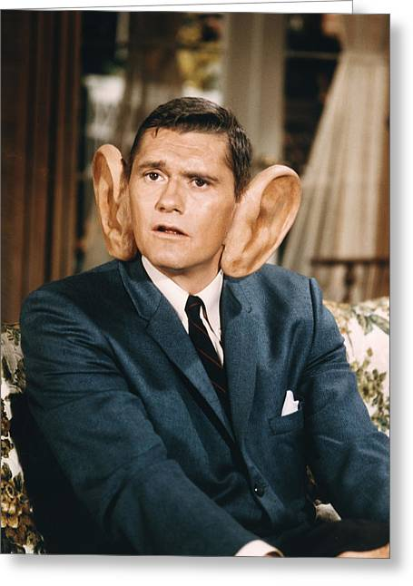 Bewitched Greeting Cards - Dick York in Bewitched  Greeting Card by Silver Screen