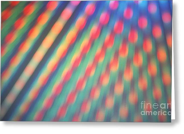 Color Spectrum Greeting Cards - Diffraction Effect Greeting Card by Martin Dohrn