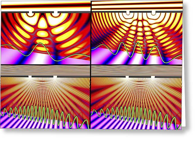 Amplitude Greeting Cards - Diffraction experiment, simulation Greeting Card by Science Photo Library