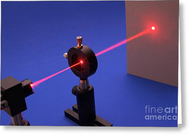 Experiment Greeting Cards - Diffraction On Circular Aperture Greeting Card by GIPhotostock