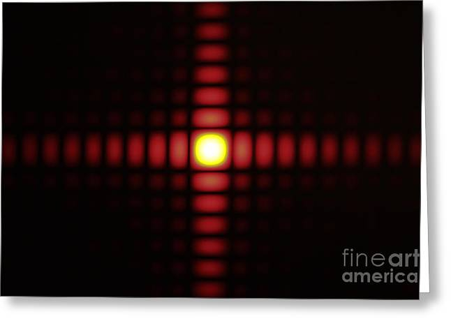 Aperture Greeting Cards - Diffraction On Square Aperture Greeting Card by GIPhotoStock