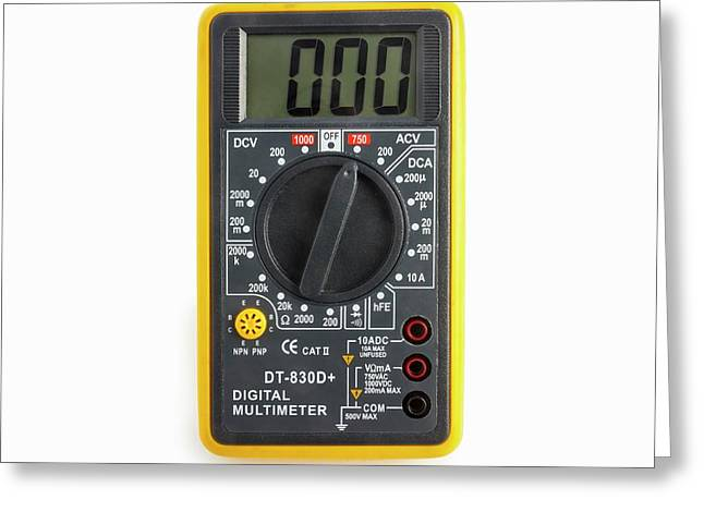 Digital Multimeter Greeting Card by Science Photo Library