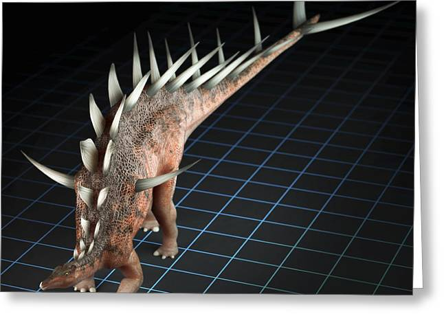 Digitally Generated Image Photographs Greeting Cards - Dinosaur Kentrosaurus Greeting Card by Science Picture Co