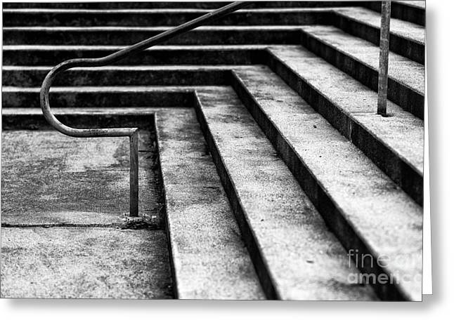 Stone Steps Greeting Cards - Directional Greeting Card by John Rizzuto