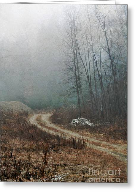 Dirt Road Greeting Cards - Dirt Road Greeting Card by HD Connelly