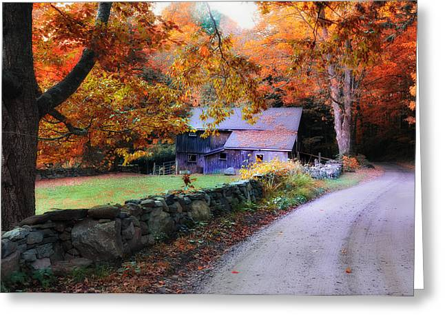 Country Dirt Roads Greeting Cards - Dirt Roads are Down to Earth Greeting Card by Thomas Schoeller