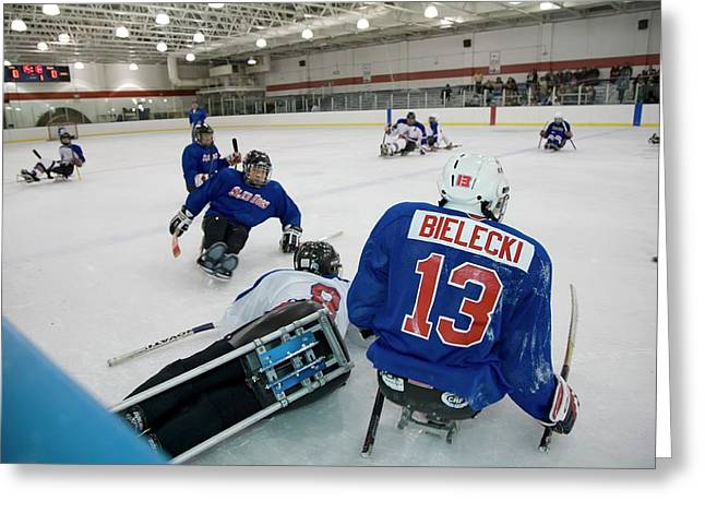Disabled Ice Hockey Greeting Card by Jim West