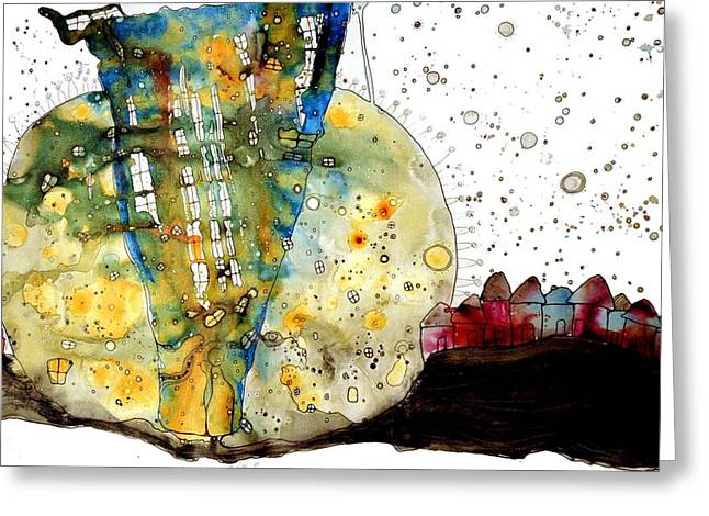 Surreal Landscape Mixed Media Greeting Cards - Disconnected Greeting Card by Cristine Cambrea