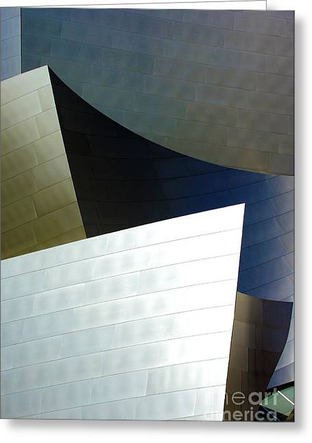 Metal Sheet Photographs Greeting Cards - Disney Concert Hall 8 Greeting Card by Micah May