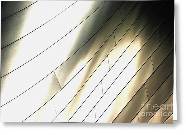 Metal Sheet Photographs Greeting Cards - Disney Concert Hall Greeting Card by Micah May
