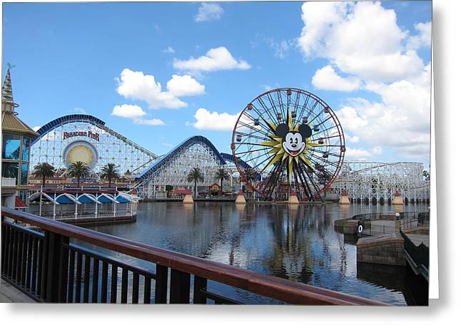 Disney Greeting Cards - Disneyland Park Anaheim - 12128 Greeting Card by DC Photographer