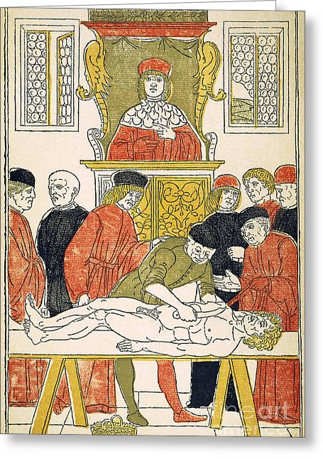 1493 Greeting Cards - Dissection Lesson, 1493 Greeting Card by Granger
