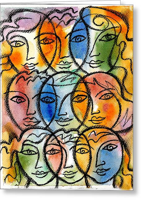 Companionship Greeting Cards - Diversity Greeting Card by Leon Zernitsky