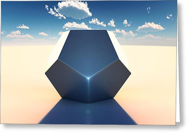 Surrealist Greeting Cards - Dodecahedron Greeting Card by Marc Orphanos
