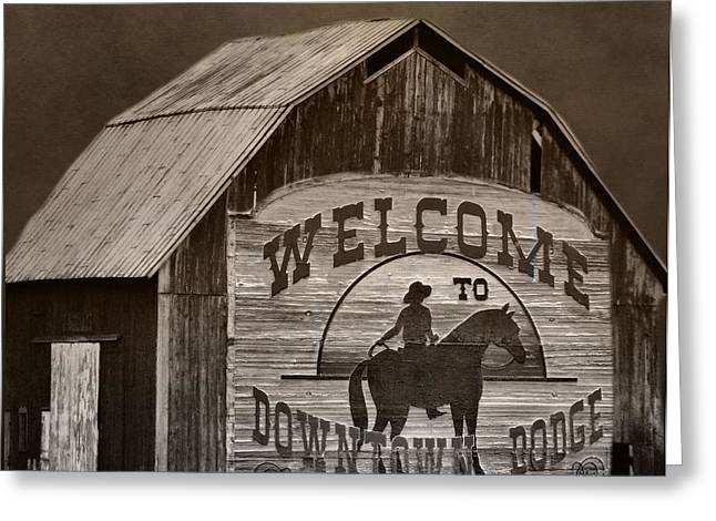 Old Town Digital Greeting Cards - Dodge City Greeting Card by Dan Sproul