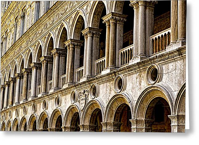 The Piazza Greeting Cards - Doges Palace - Venice Italy Greeting Card by Jon Berghoff