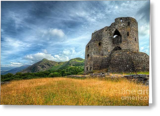 Stones Digital Art Greeting Cards - Dolbadarn Castle Greeting Card by Adrian Evans