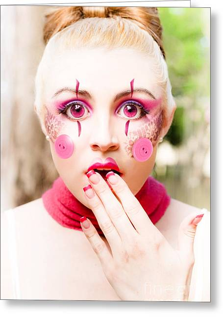 Doll Face Greeting Card by Jorgo Photography - Wall Art Gallery