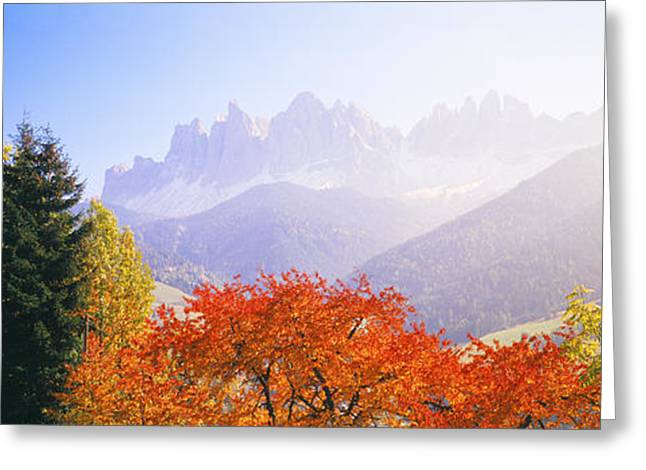Height Greeting Cards - Dolomites Alps, Italy Greeting Card by Panoramic Images