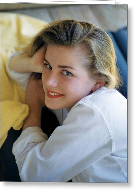 Hart Greeting Cards - Dolores Hart Greeting Card by Silver Screen