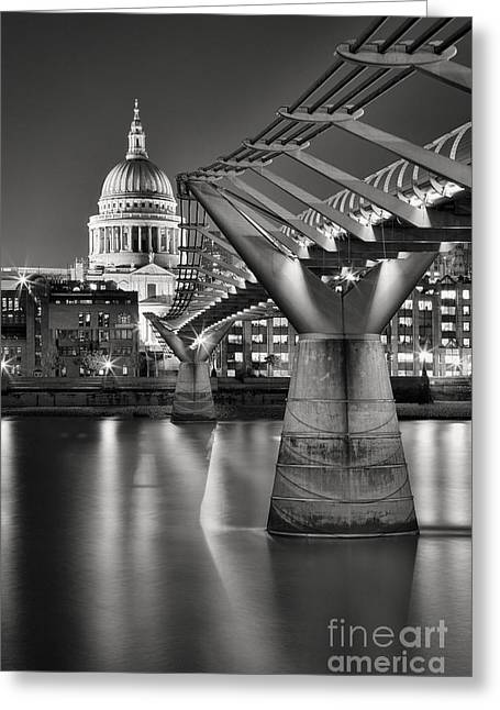 Landmark And Bridges Greeting Cards - Dome and Bridge Greeting Card by Rod McLean