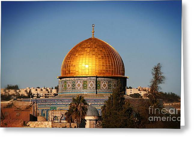 Dome Of The Rock Greeting Card by Doc Braham