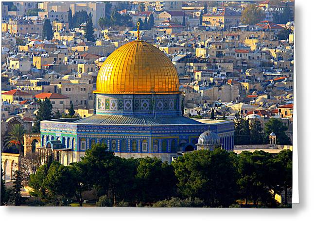 Dome of the Rock Greeting Card by Stephen Stookey