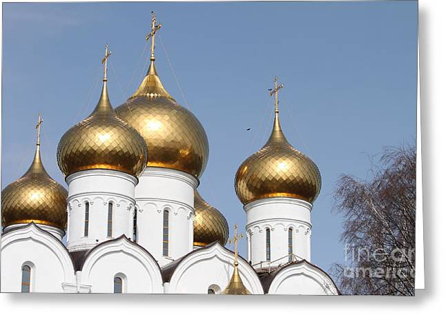 Evgeny Pisarev Greeting Cards - Domes Greeting Card by Evgeny Pisarev