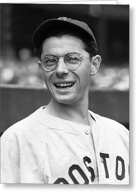 Boston Red Sox Greeting Cards - Dominic P. Dom DiMaggio Greeting Card by Retro Images Archive