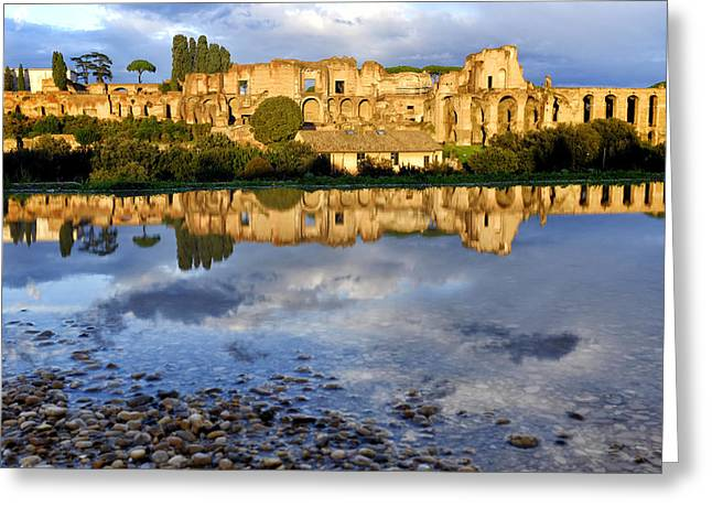 Puddle Greeting Cards - Domus Augustana Greeting Card by Fabrizio Troiani