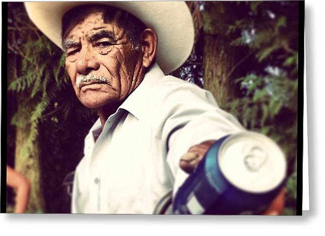 Campesino Greeting Cards - Don Fermin Greeting Card by Erubiel Valladares