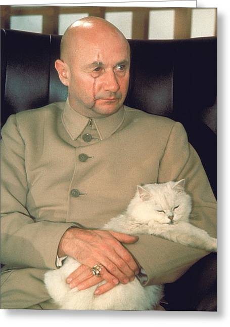 Donald Greeting Cards - Donald Pleasence Greeting Card by Silver Screen